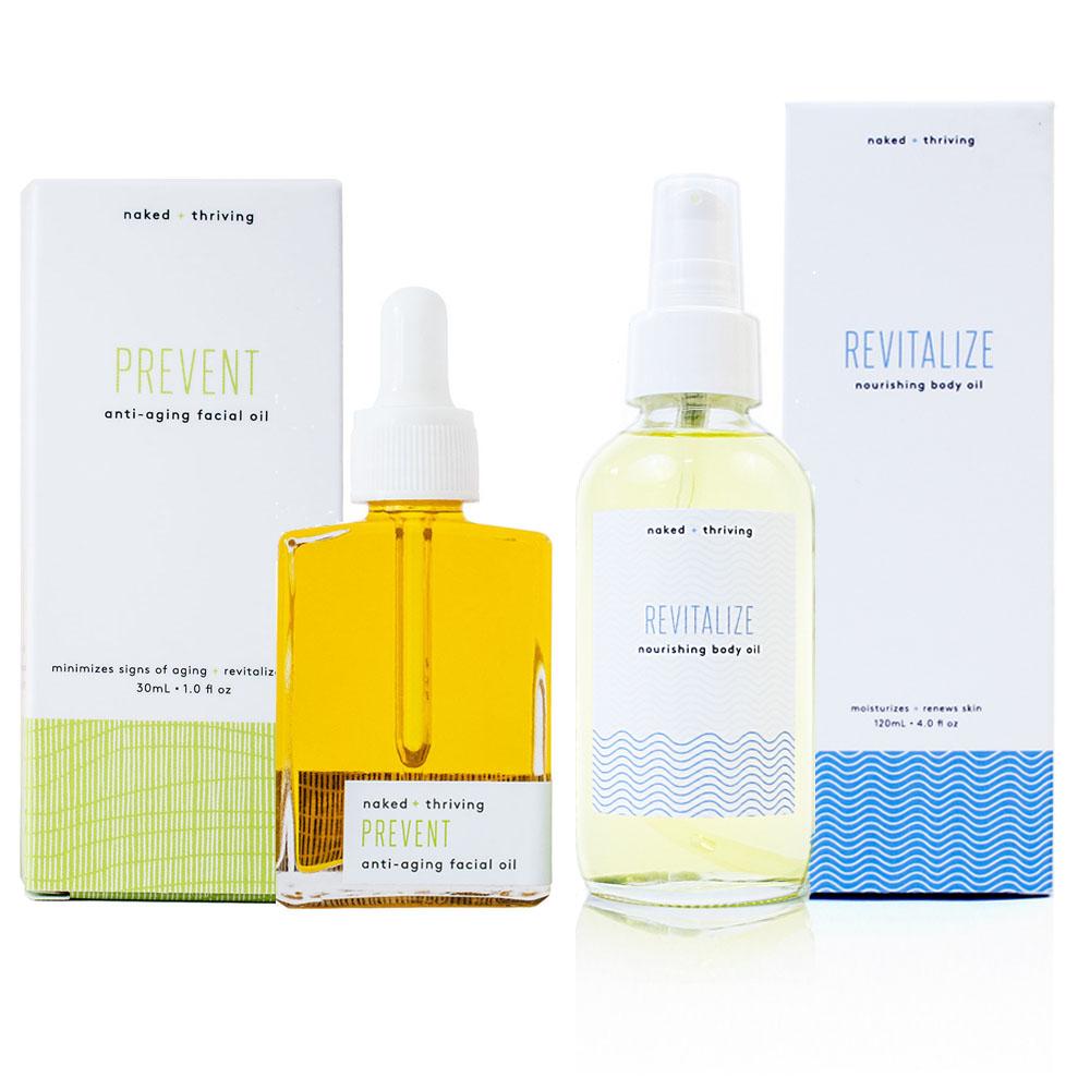 Limited Set:  Prevent Facial Oil + Revitalize Body Oil