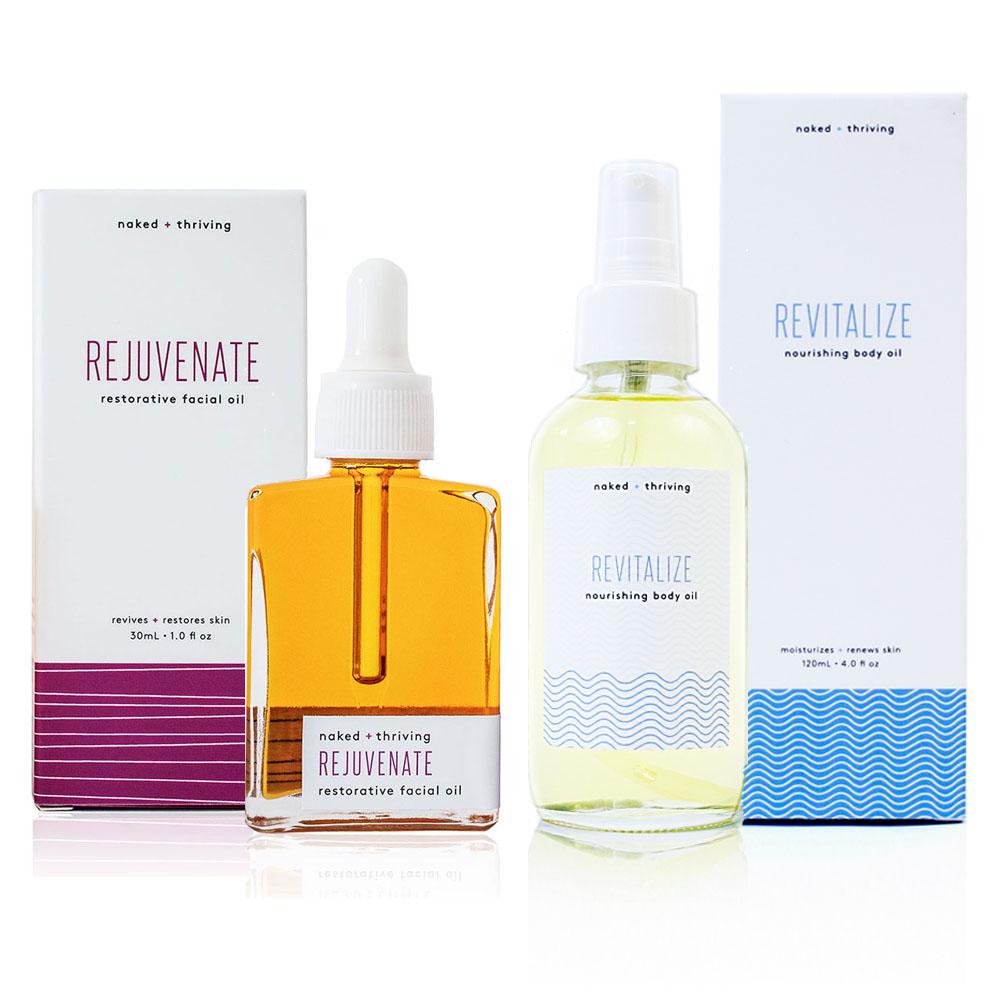 Limited Set:  Rejuvenate Facial Oil + Revitalize Body Oil